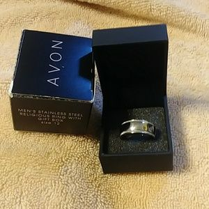 New Avon Men's Stainless SteelcRing Size 12